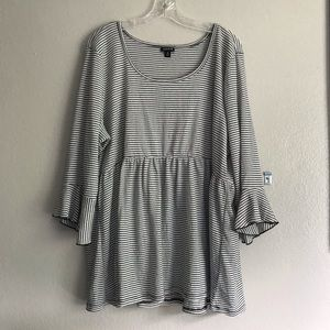 Torrid bell arm boho flow striped blouse 3